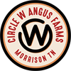 CIRCLE W ANGUS FARMS Sticky Logo